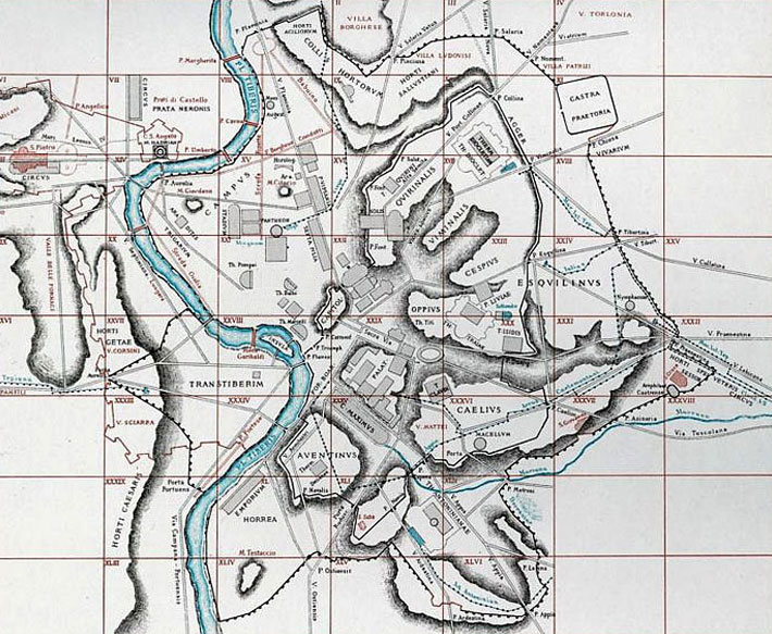 Rom Sehenswürdigkeiten Karte Deutsch.übersichtskarte Antikes Rom