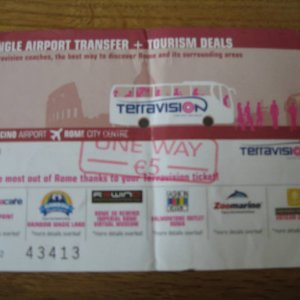 Terravision Ticket fco