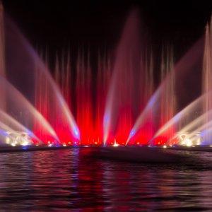 Wasserlichtspiele blomen anfahrt un planten Wasserlichtkonzerte in
