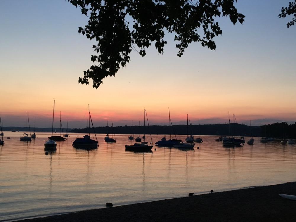 Abendstimmung in Herrsching am Ammersee