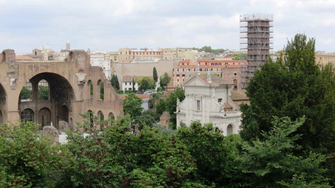 Forum Traiani Vogel Im Garten Römische Fresken